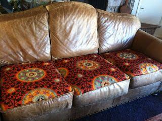 Urban Gypsies Cushions On Sofa Leather Sofa Sofa Recovering