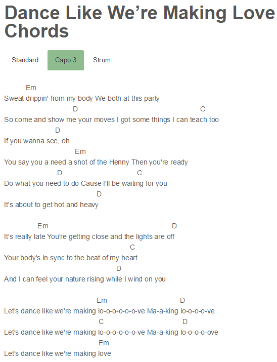 Ciara - Dance Like We\'re Making Love Chords Capo 3   Quotes ...