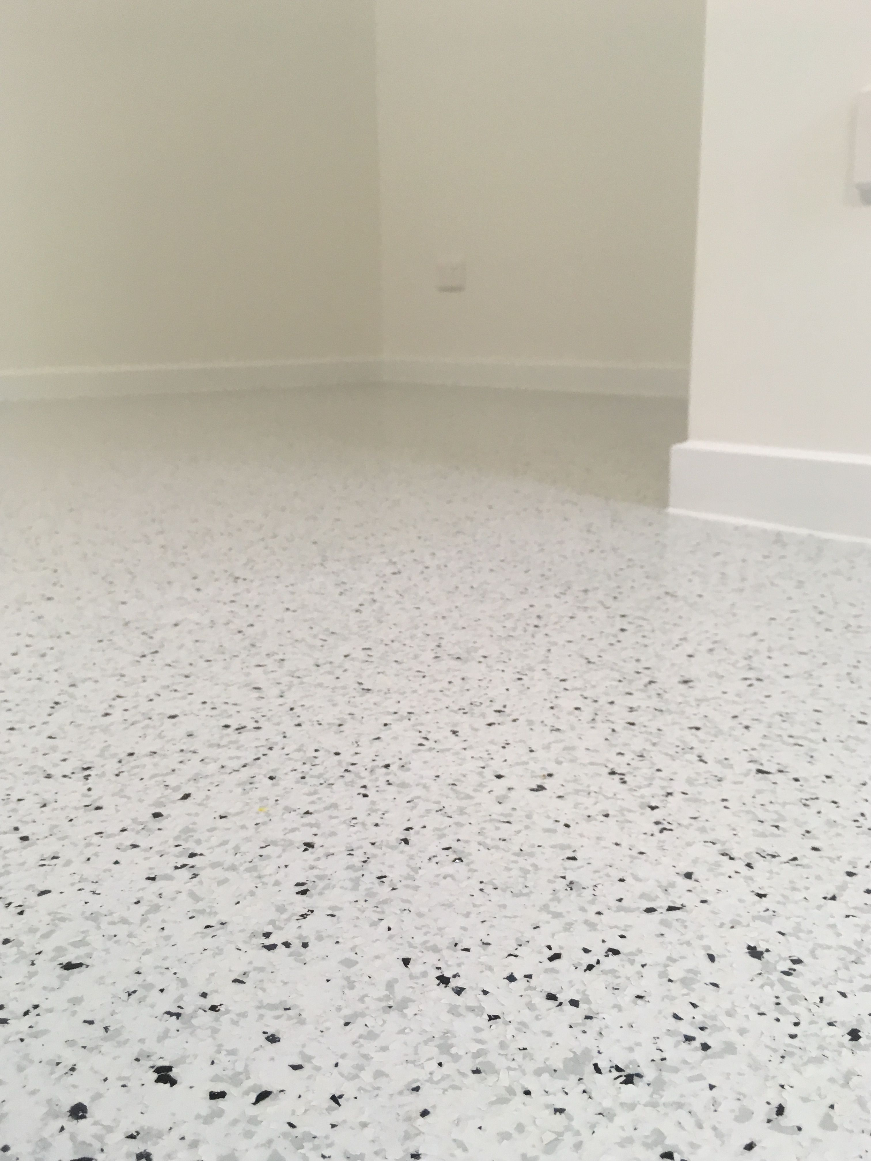 A Beautiful Flake Epoxy Flooring Installation In A Living Area Of A New Build At Aura Sunshine Coast Epoxy Floor Basement Epoxy Floor Flooring