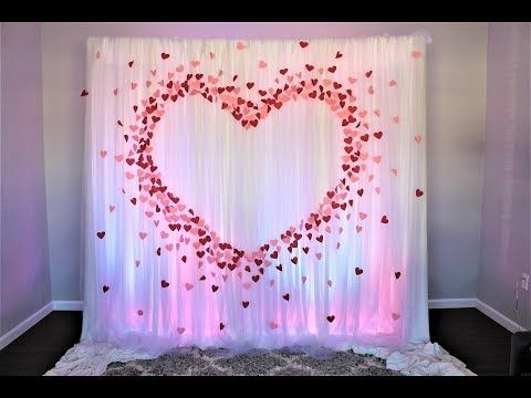 Paper Heart Backdrop DIY   How To - YouTube