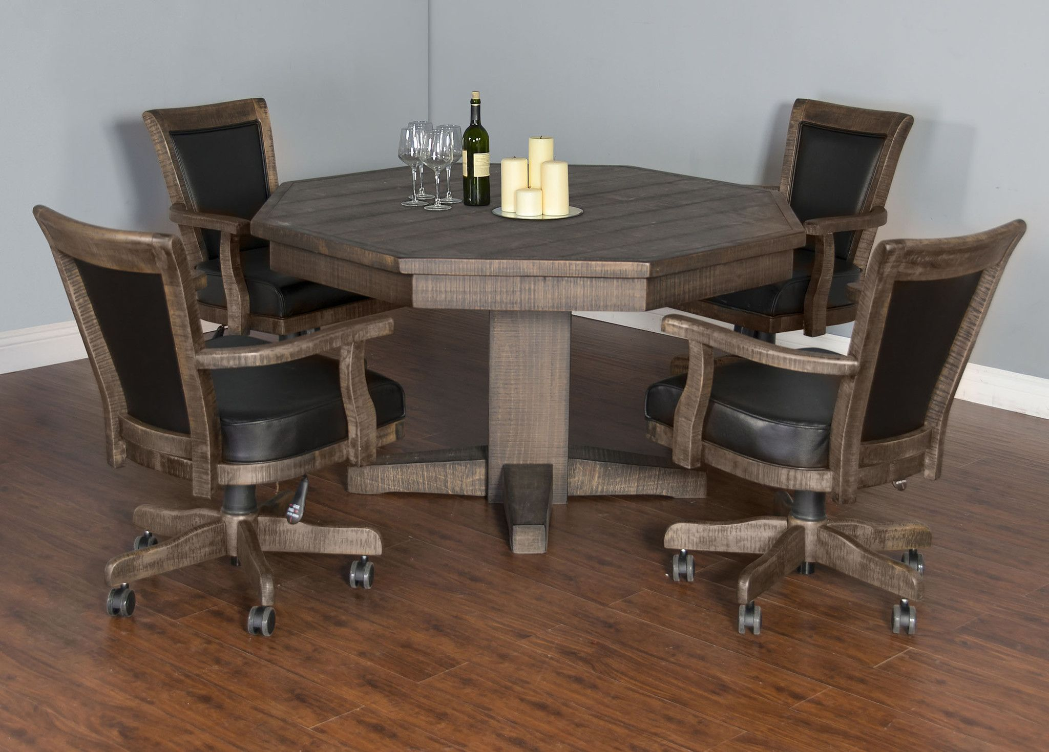 Convertible Poker Dining Table Tobacco Leaf By Sunny Designs
