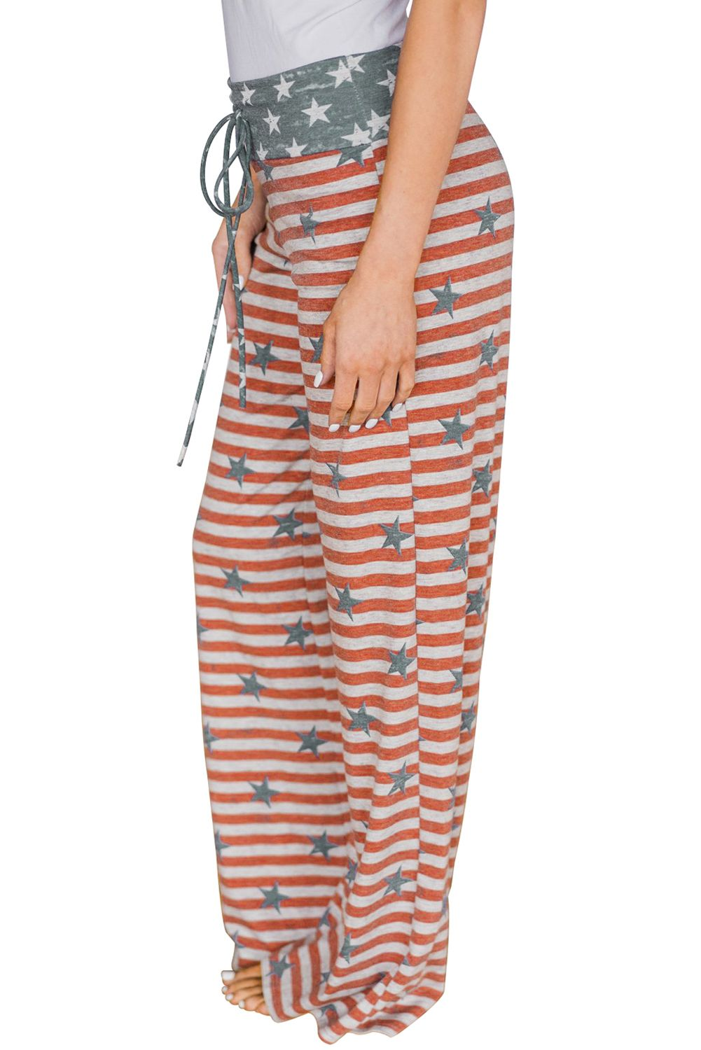 Closecret The American Dream Striped Lounge Pants •Tie up bust ...