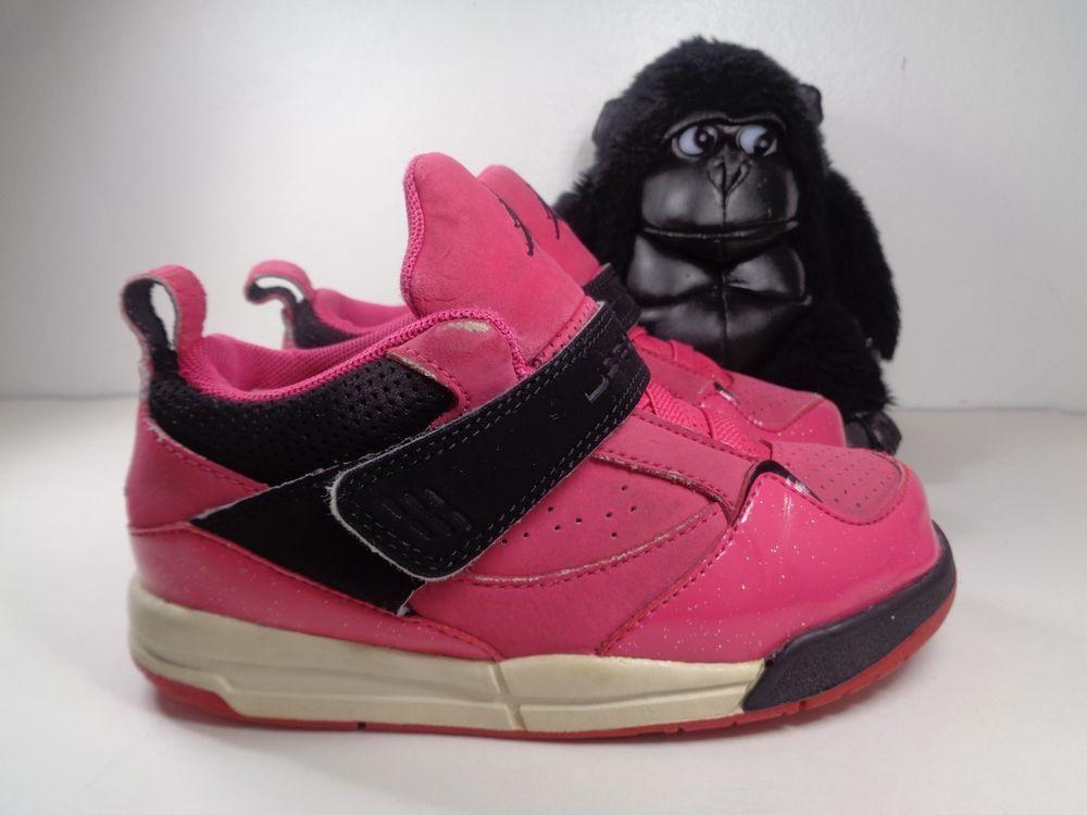 6a1f8e61d4e4 Babies Nike Air Jordan 4 Retro Pink Basketball Shoes size 10C 364759-607   Nike  Athletic