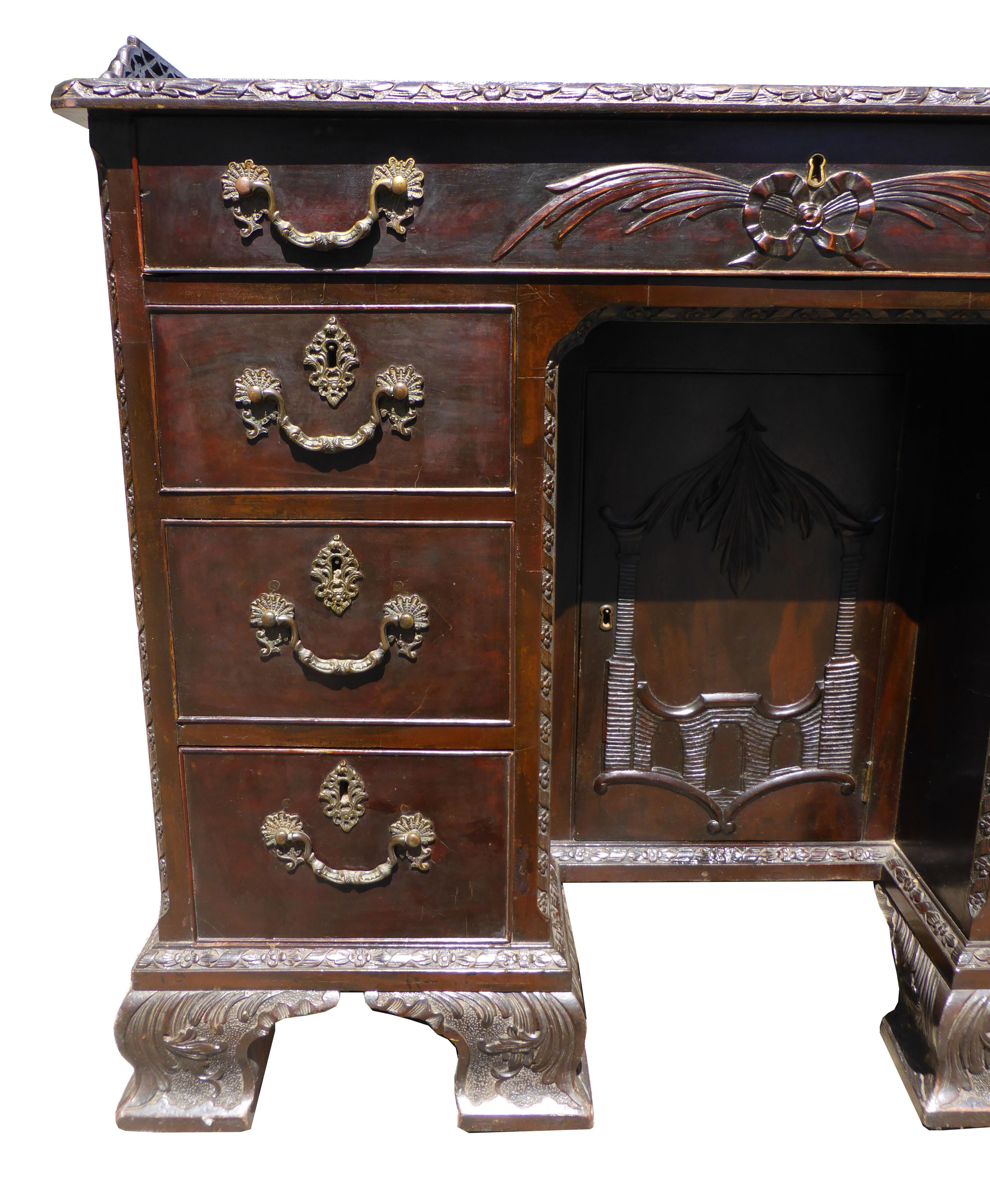 19th Century Mahogany Chinese Chippendale Desk Things I Like