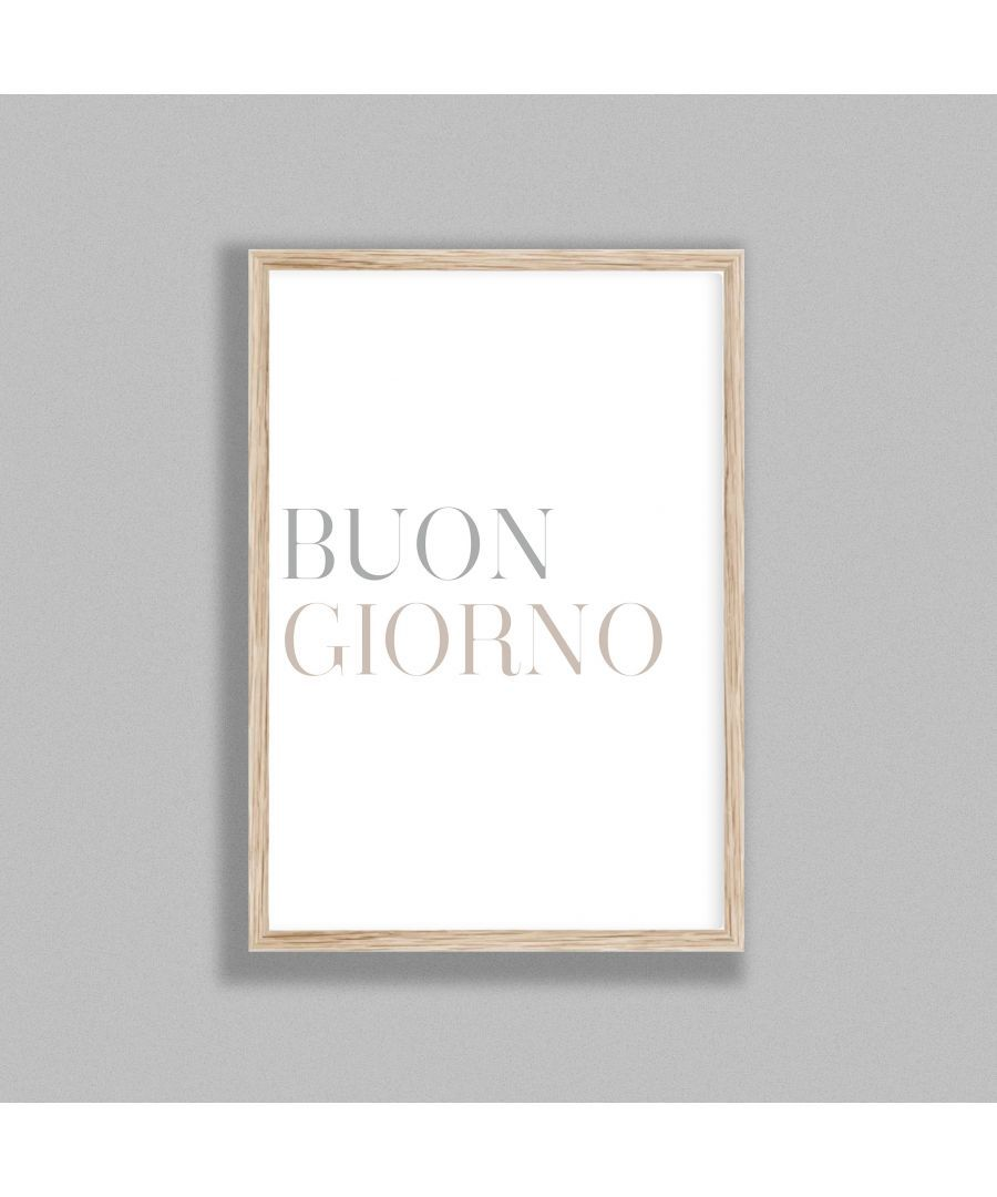 Gallery Print & Art Italian Typography Buongiorno P&G - Oak Frame Wood - One Size