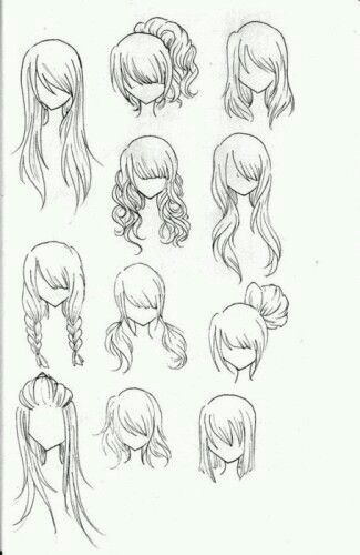 Hair Styl Realistic Hair Drawing Realistic Drawings How To Draw Hair
