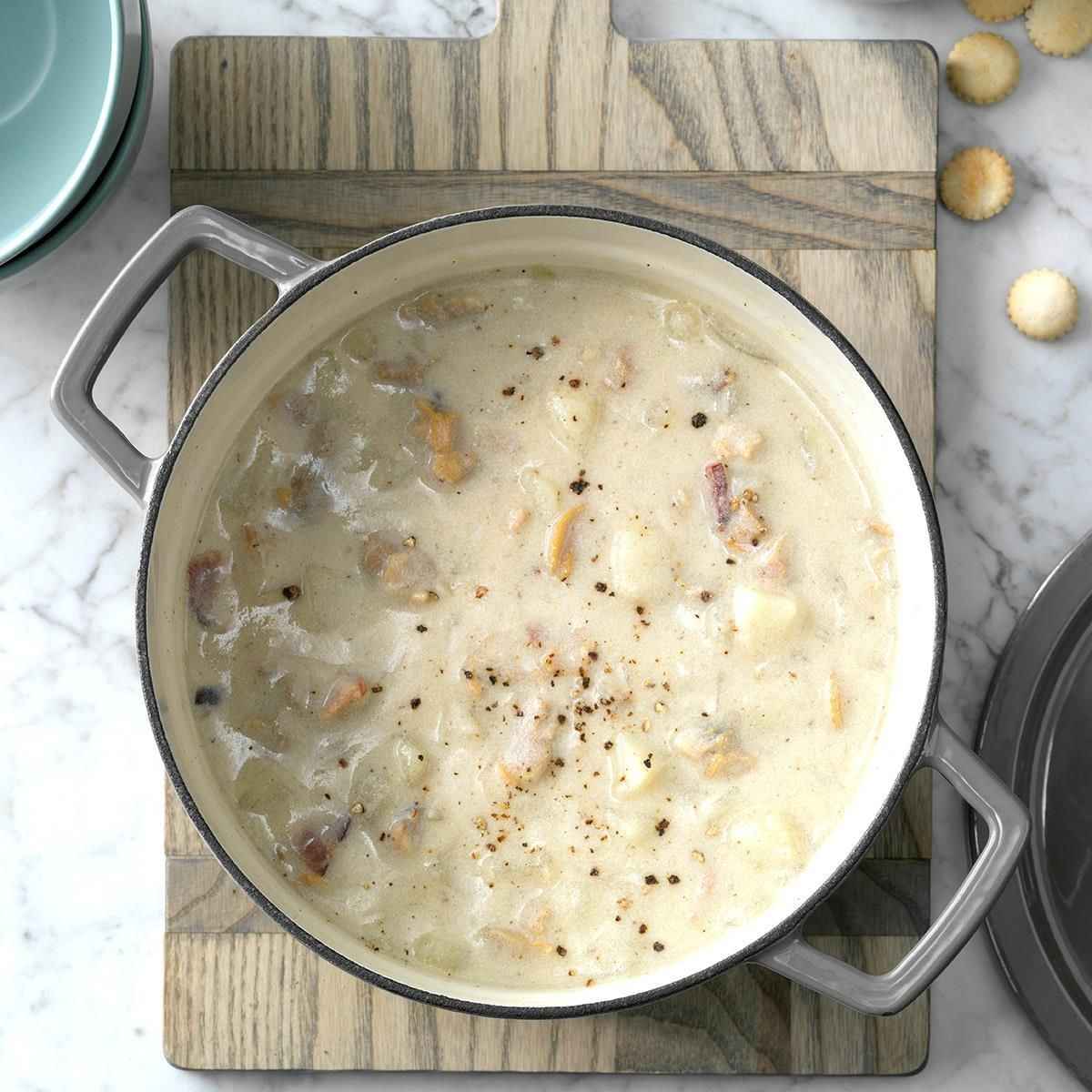 Traditional New England Clam Chowder Recipe Seafood Soup
