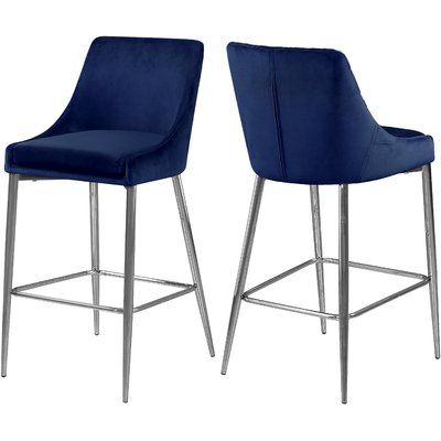Orren Ellis Karina 27 5 Counter Stool Bar Stools Counter Stools Velvet Stool