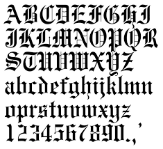 Image Result For Numbers In Old English Calligraphy