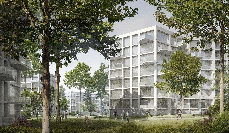 3. Rang Städtebauliche Entwicklung Areal Spallartgasse 21-23, O&O Baukunst