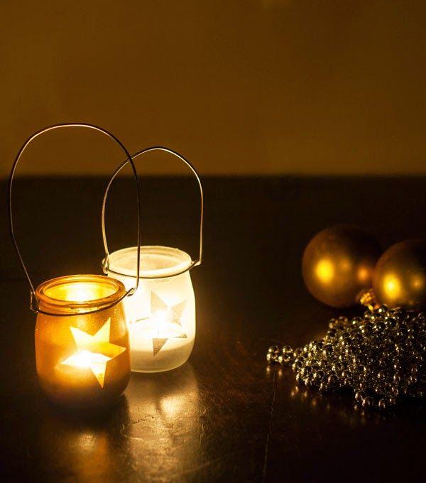 Reciclage decoraci n vasos de iogurt ideas para el hogar pinterest vasos yogurt y faroles - Farolillos para velas ...