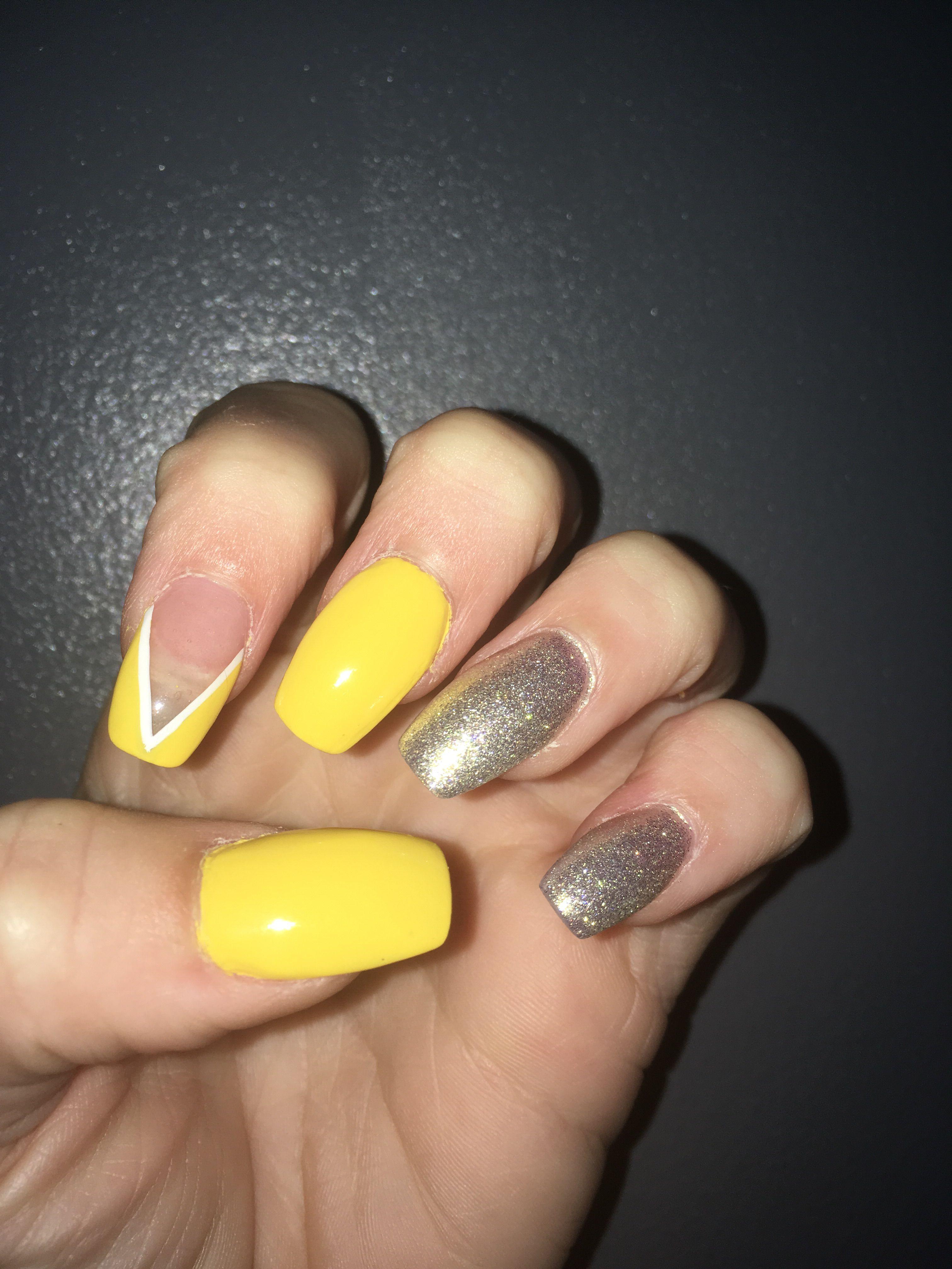 Acrylic Nails Neon Acrylic Nails Acrylic Nails Yellow Neon Yellow Nails