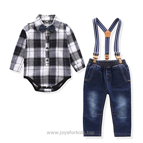 Baby Boy Outfit Toddler Suspenders Romper Set With Jeans Romper