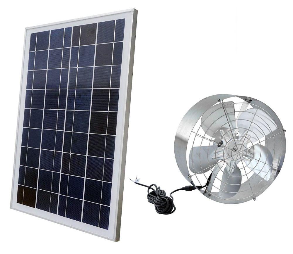 Solar Power Attic Gable Fan 65watt 18volt Efficient Brushless Dc Motor And 25watt 18v Solar Panel Affiliate Solar Panels Best Solar Panels Solar