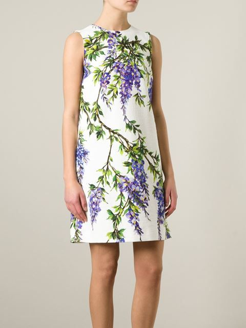 DOLCE & GABBANA wisteria print shift dress | closet