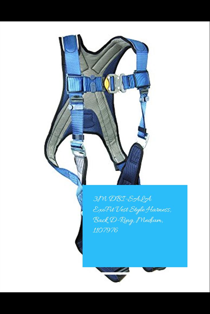 3M DBISALA ExoFit Vest Style Harness, Back DRing, Medium