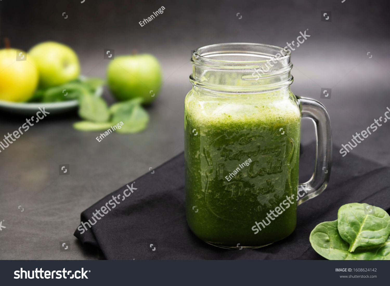 healthy green smoothie in a mason jar mug dark food photo healthy food concept sponsored sponsored mas in 2020 healthy green smoothies mason jar mug mason jars pinterest