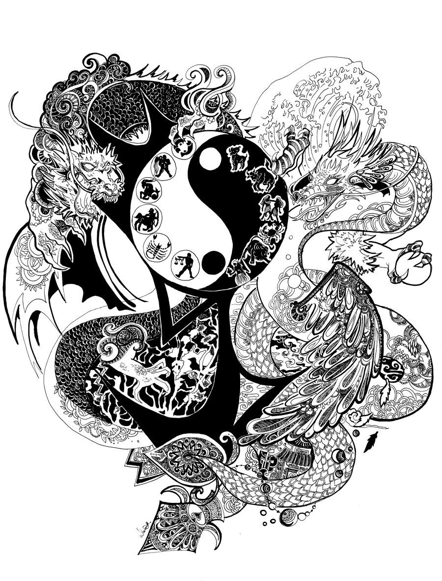 Yin Yang Dragon Yin Yang Yin Yang Designs Yin