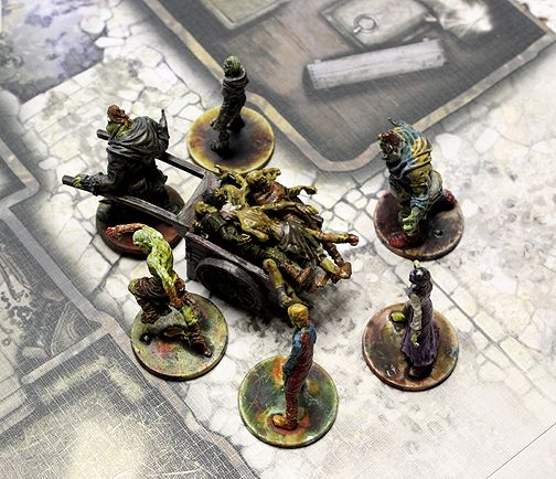 Corpse Cart kitbash for Black plague