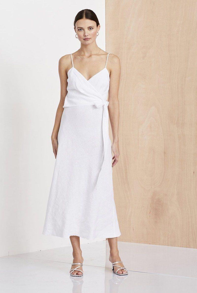 linen wrap dress australia