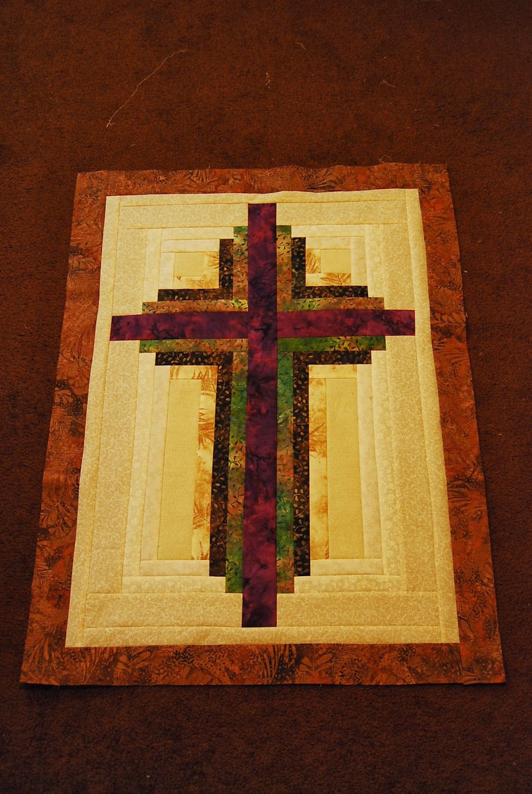 Sweet Seasons Of Life Log Cabin Cross With Instructions
