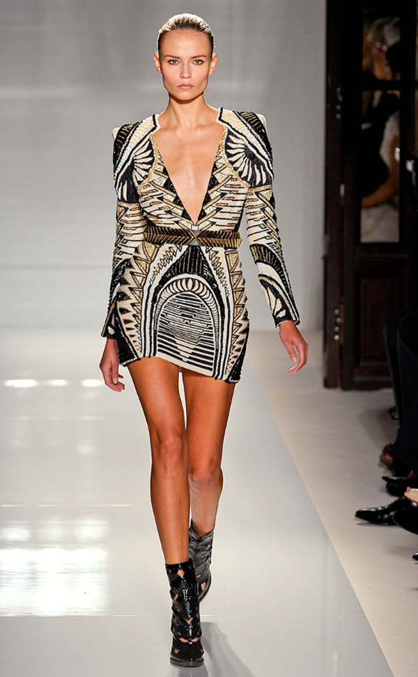 olivier rousteing 2012 collection vegas inspired looks