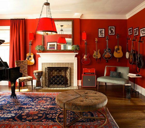 Ecclectic Room | Raumgestaltung Mit Farbe – Das Rot Lädt Ihren