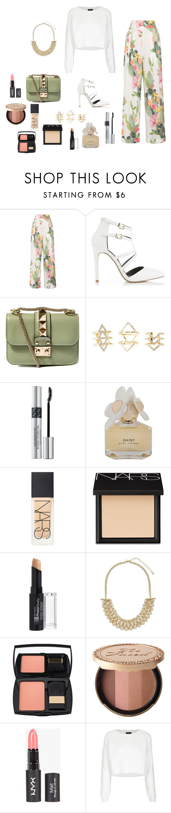 """""""M"""" by butnotperfect ❤ liked on Polyvore featuring Matthew Williamson, Miss Selfridge, Valentino, Charlotte Russe, Christian Dior, Marc by Marc Jacobs, NARS Cosmetics, Revlon, Lancôme and Too Faced Cosmetics"""