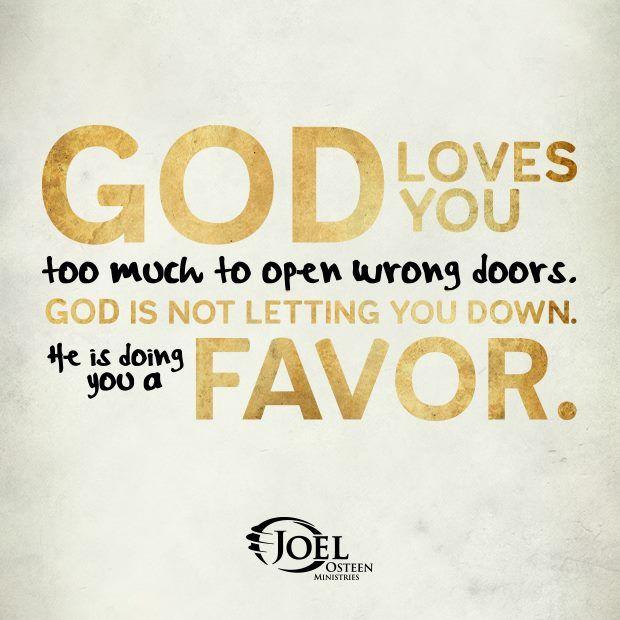 god's favor -Joel Osteen