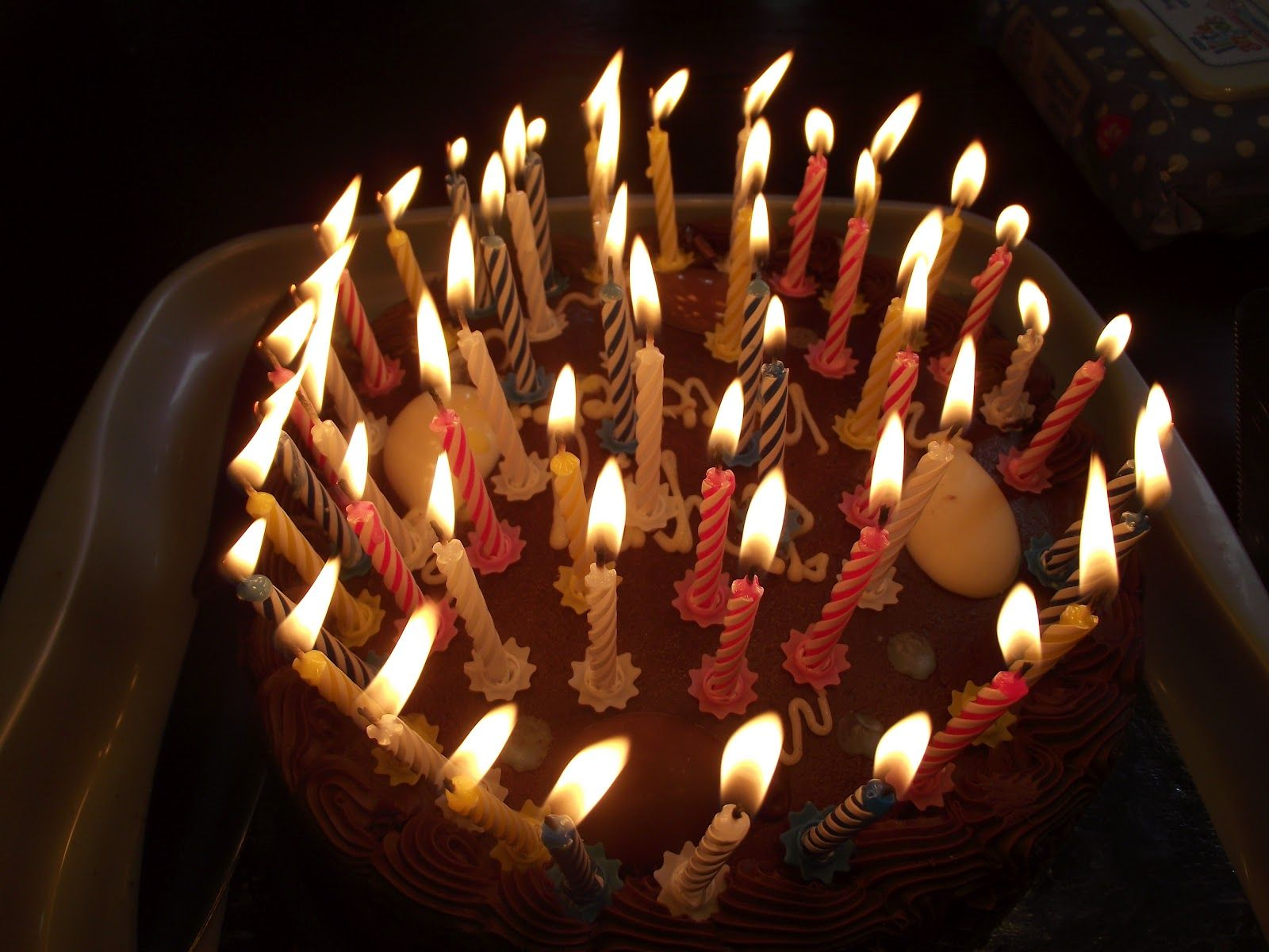 A Cake With 25 Candles Just For Blanche Food And Drink