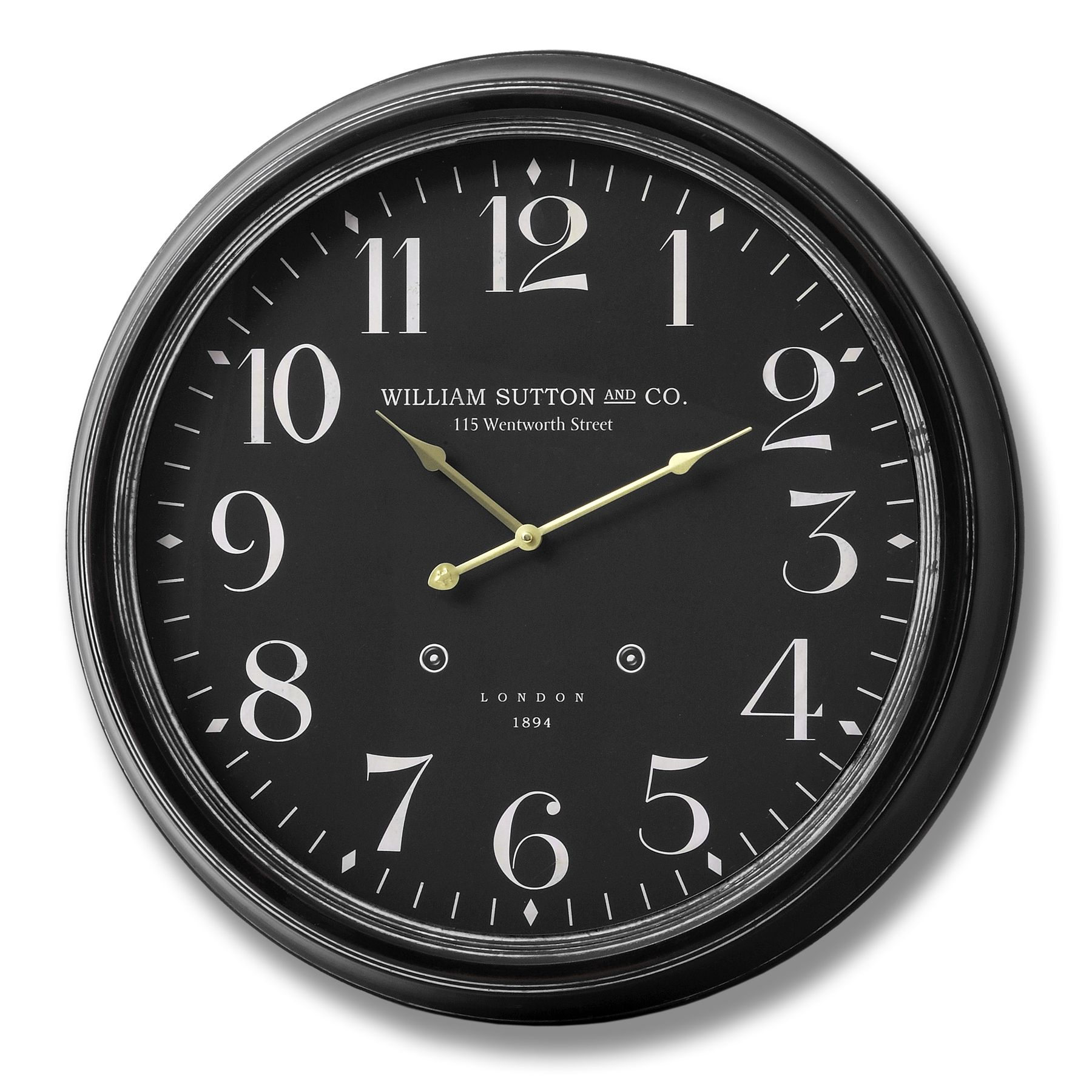 William sutton and co large glass faced wall clock clocks william sutton and co large glass faced wall clock amipublicfo Images