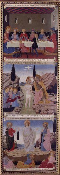Armadio degli Argenti del Beato Angelico :Nozze di Cana, Battesimo e Trasfigurazione