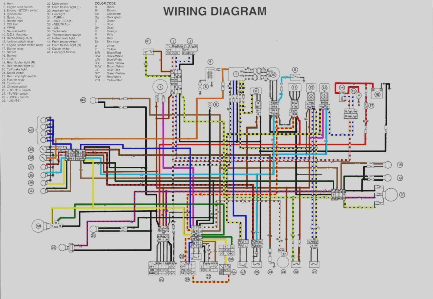 Yamaha Yfz 450 Wiring Diagram Diagram Electrical Wiring Diagram Yamaha