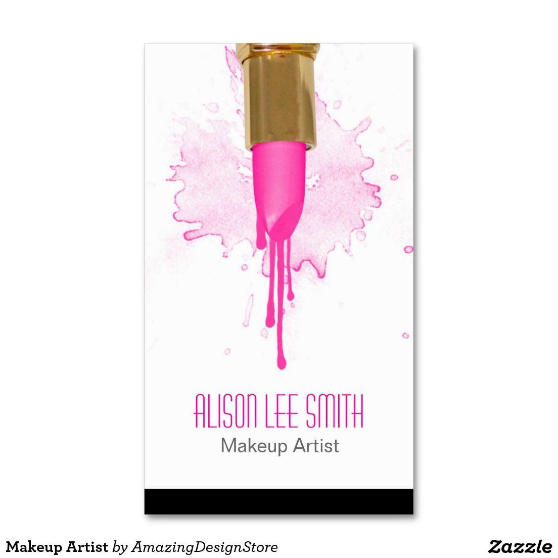 Tarjeta de visita makeup artist makeup artist business cards card templates makeup artist magicingreecefo Images