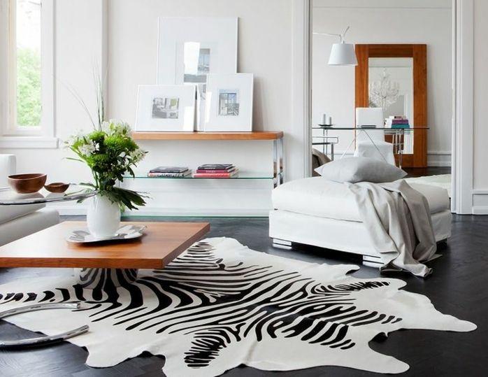 0 tapis salon pas cher zebre deco zebre