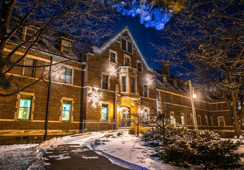 Mason Hall decked out for the holidays | On The Banks Of The