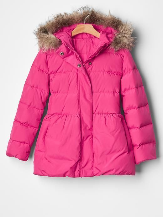 details about girl down bubble puffer winter jacket. Black Bedroom Furniture Sets. Home Design Ideas
