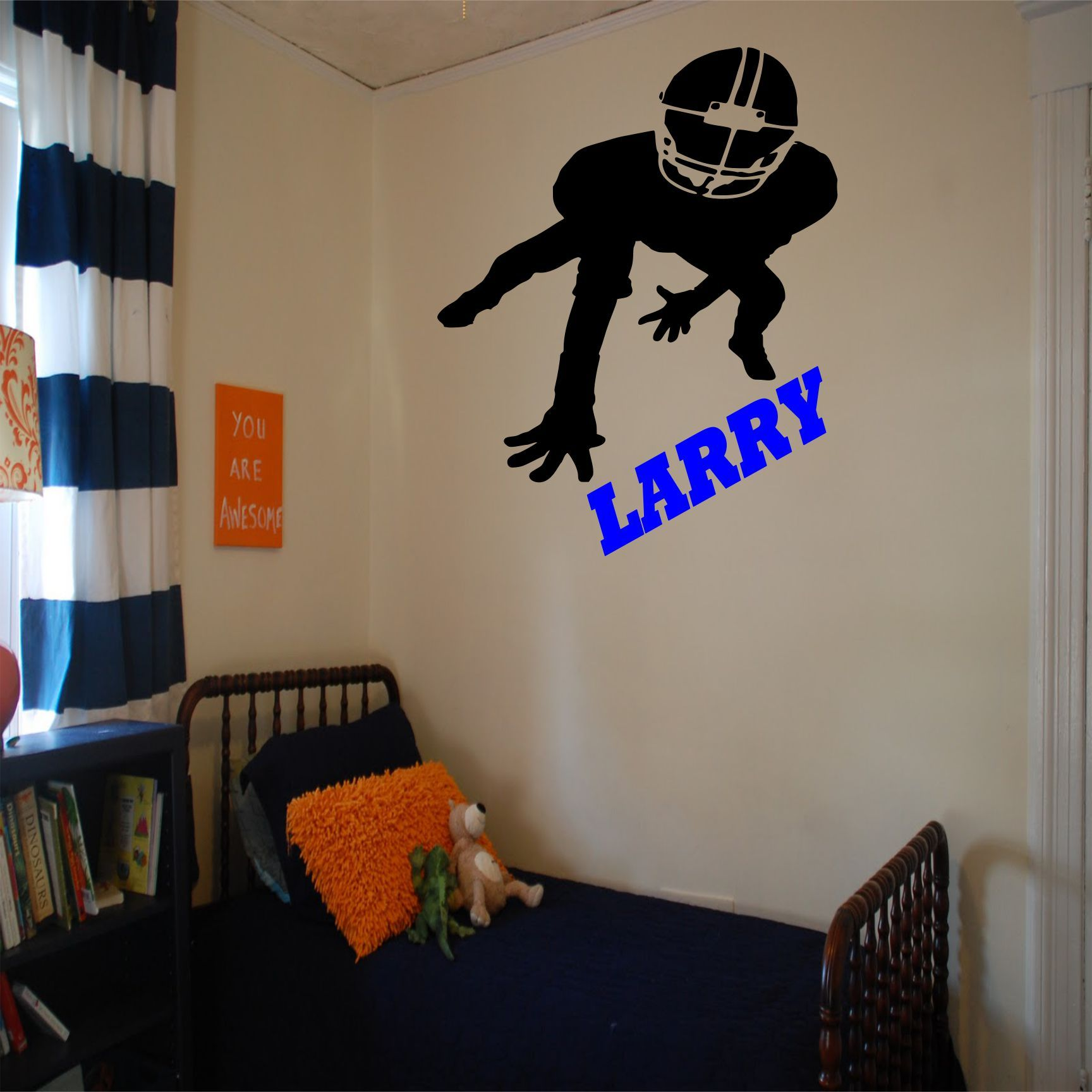 Foryour little football player he will love this wall decalin his