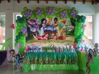 Decoracion Tinkerbell Para Fiestas Infantiles Parte 3 Decoracion De Tinkerbell Fiesta De Tinkerbell Decoracion De Unas