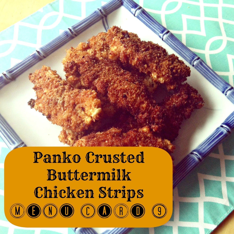 Panko Buttermilk Chicken Strip Recipe Marinate In Buttermilk Dip In Seasoned Up Panko Chicken Strip Recipes Buttermilk Chicken Panko Crusted Chicken Strips