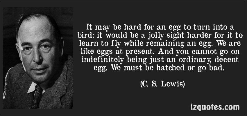 quote about an egg and change CS Lewis Quotes