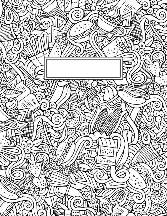Journal Cover Doodle Coloring Pages Coloring Books Adult