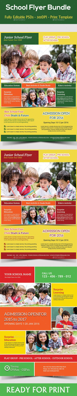 kids school flyers bundle kid plays and children kids school flyers bundle cs 210x297 admission admissions children class