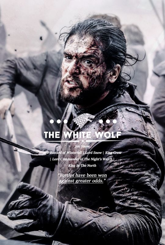 The White Wolf on Inspirationde Jon snow, A song of ice