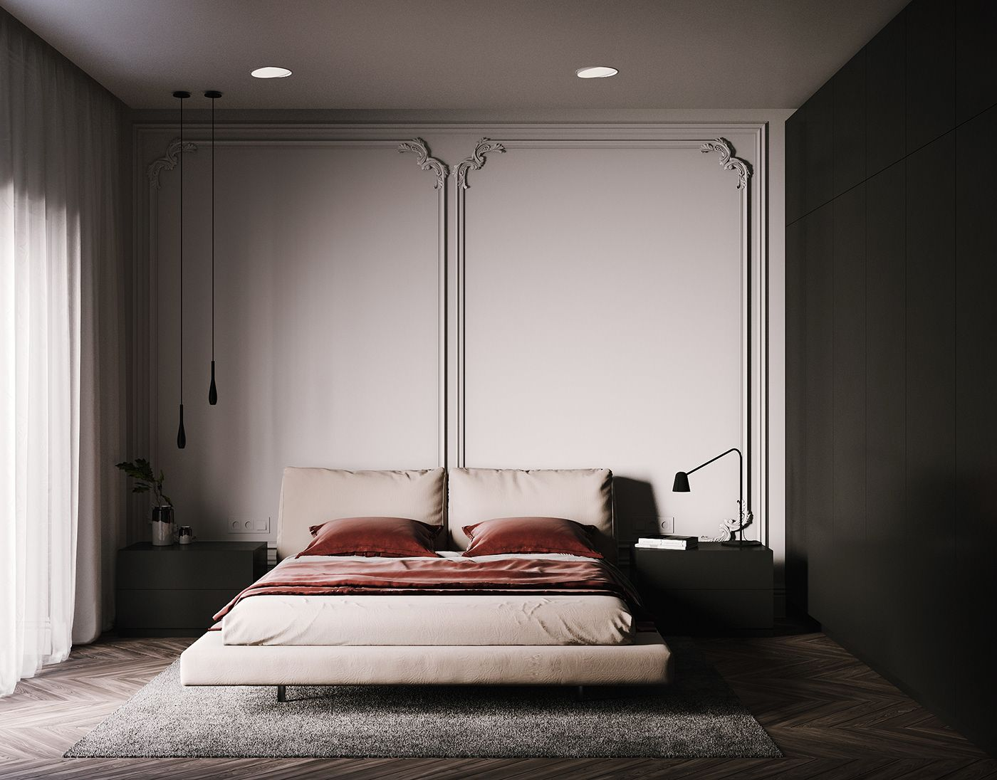 Bedroom Design On Behance Bedroom Design Interior Design