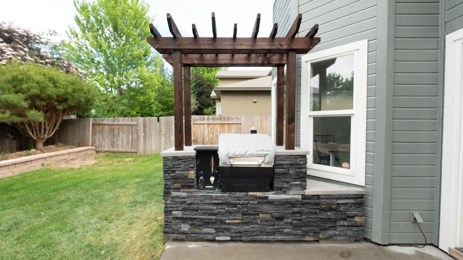 DIY BuiltIn Outdoor Grill Station in 2020 Outdoor grill