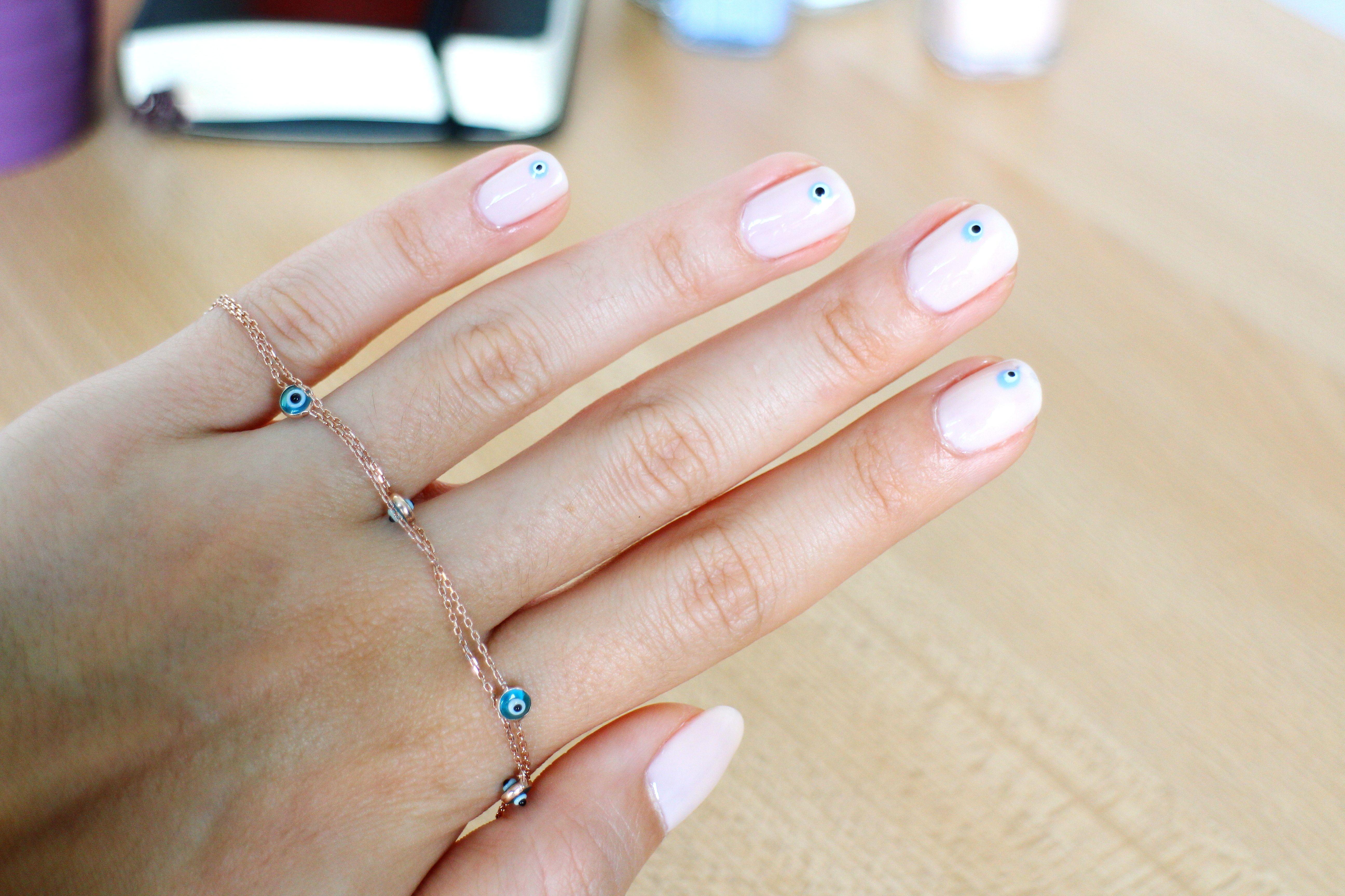 Evil Eye Nails | Nail art | Pinterest | Evil eye nails, Evil eye and Eye