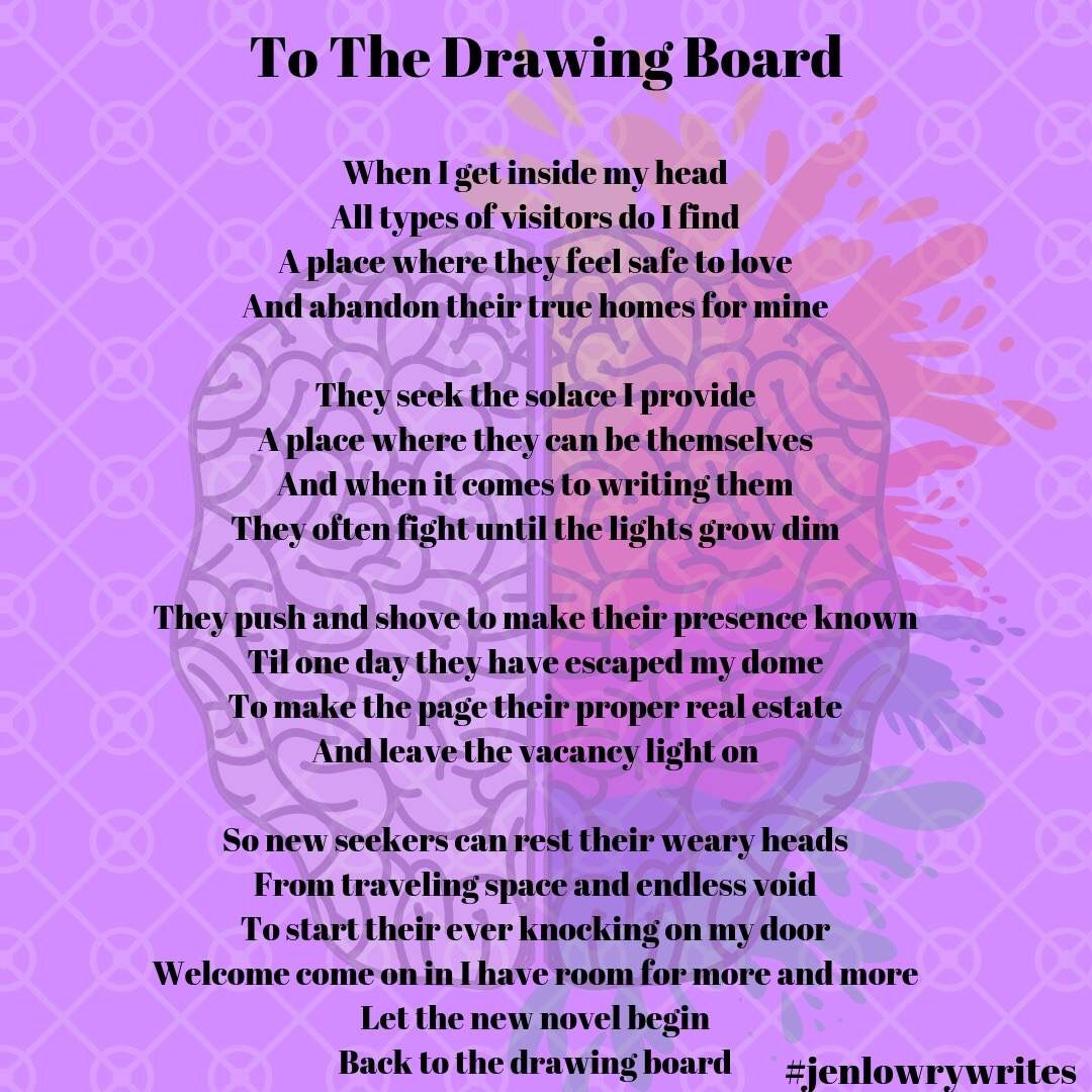 Back to the drawing board original poetry things to