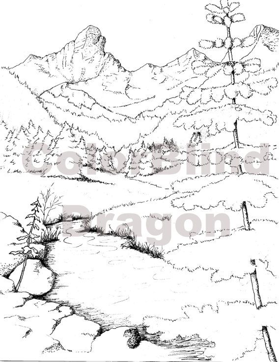 Wildhorse Camping Coloring Page Nature Water By Colorblinddragon