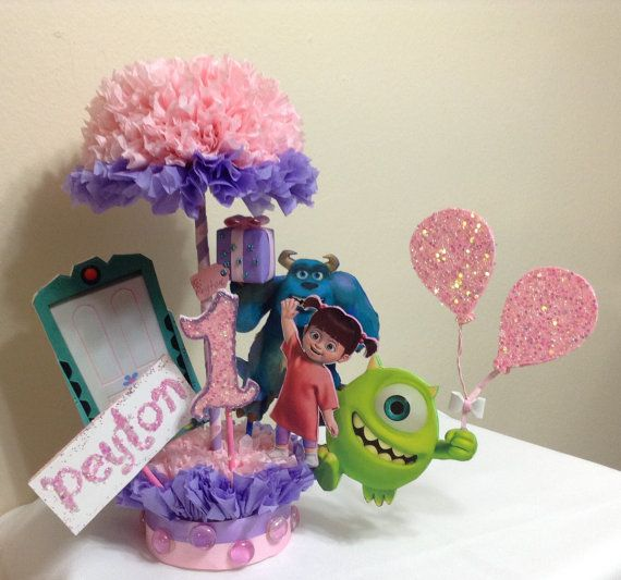 Check out this item in my Etsy shop https://www.etsy.com/listing/233703620/monsters-inc-centerpiece-birthday